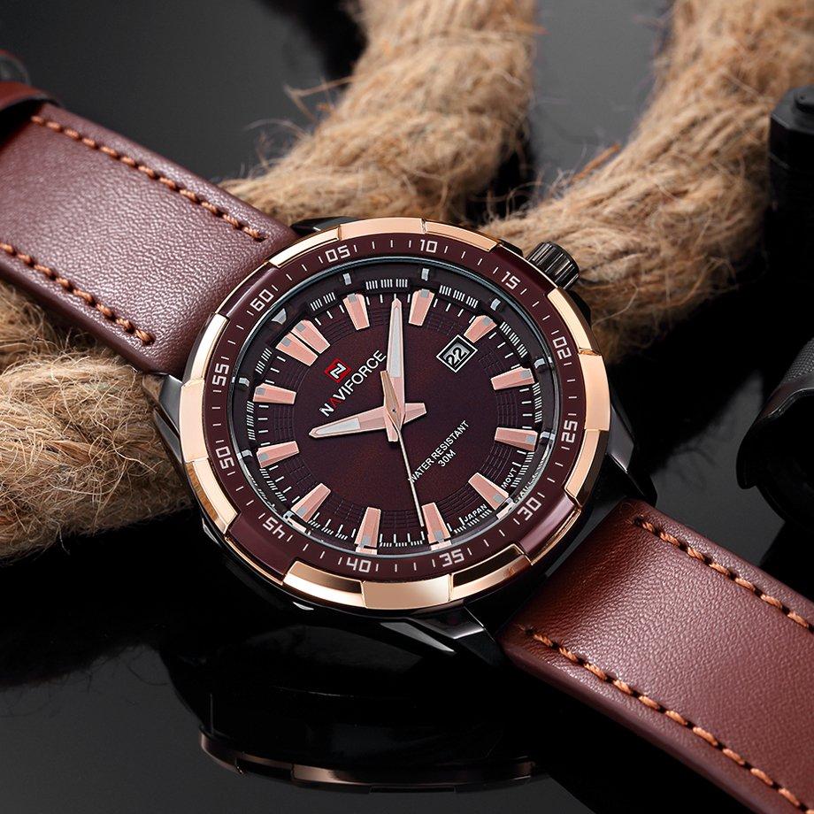 Zegarek Naviforce Harry czarny złoty 14