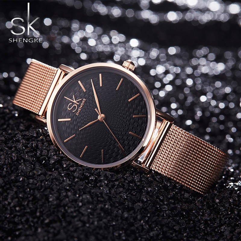 Zegarek Shengke Milan złoty 7