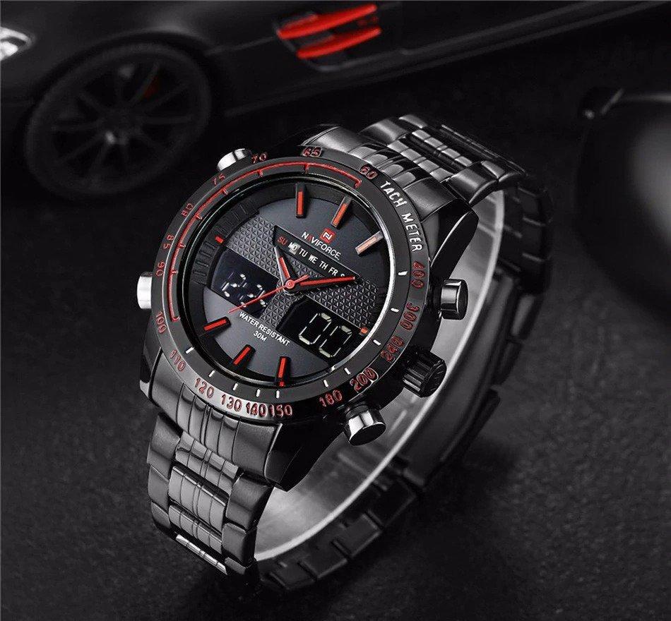 Zegarek Naviforce Power czarny czerwony 6