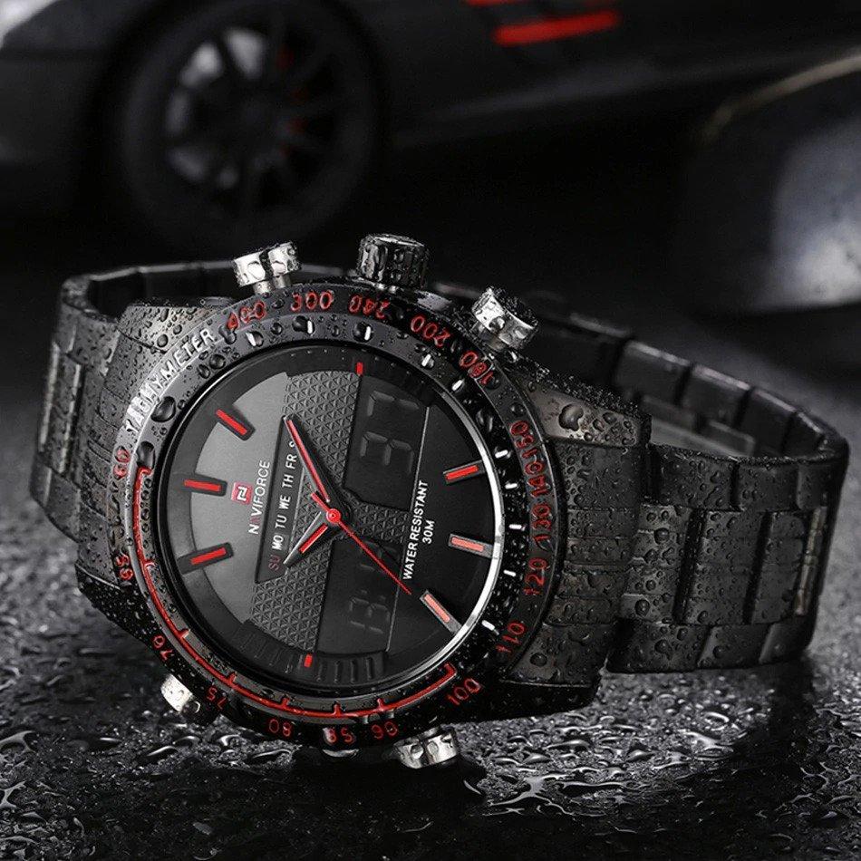 Zegarek Naviforce Power czarny czerwony 7
