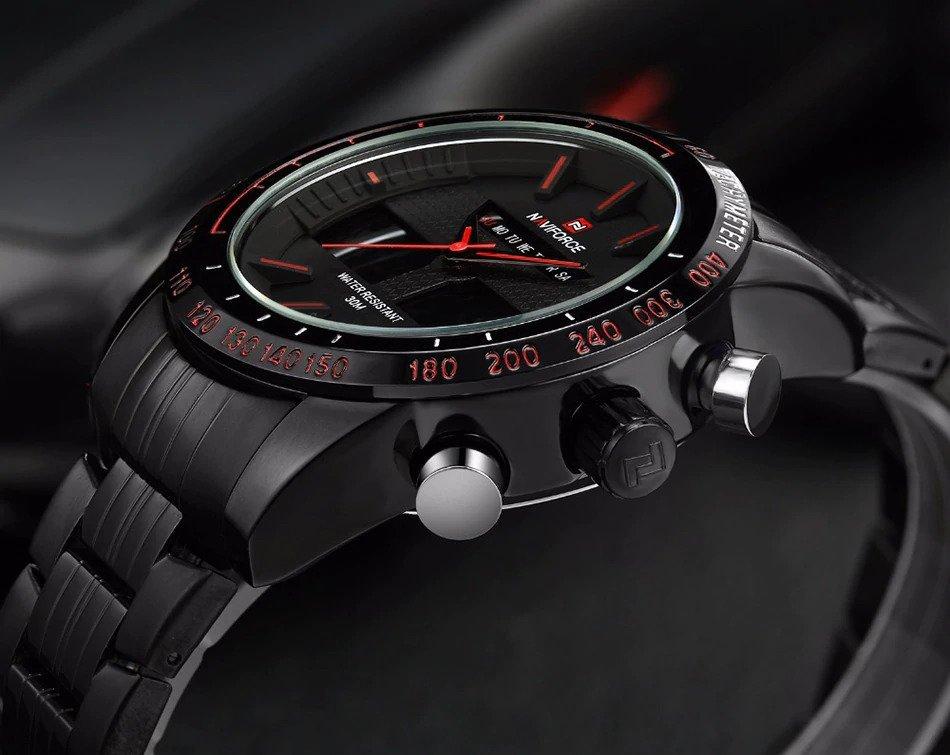 Zegarek Naviforce Power czarny czerwony 8