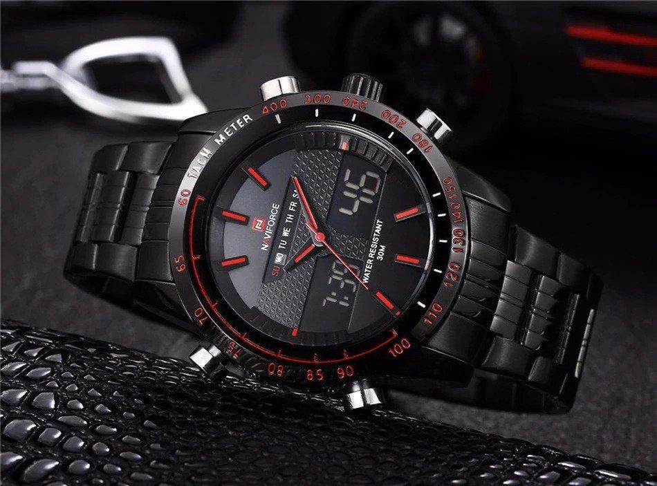 Zegarek Naviforce Power czarny czerwony 9