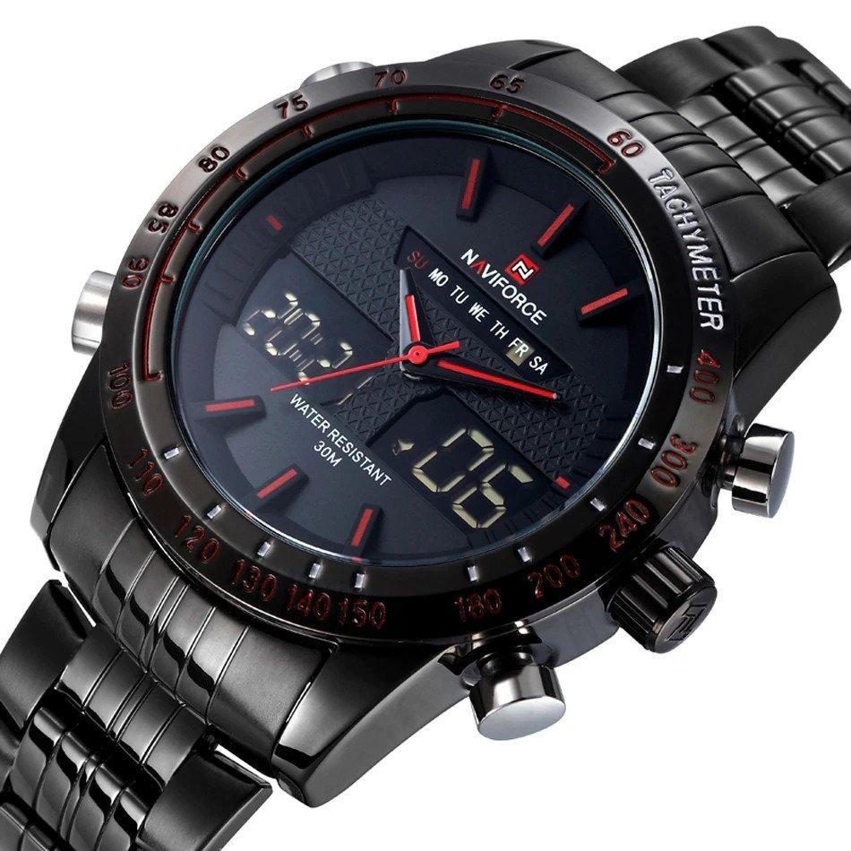 Zegarek Naviforce Power czarny czerwony 10