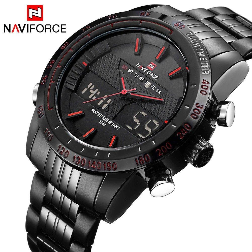 Zegarek Naviforce Power czarny czerwony 12