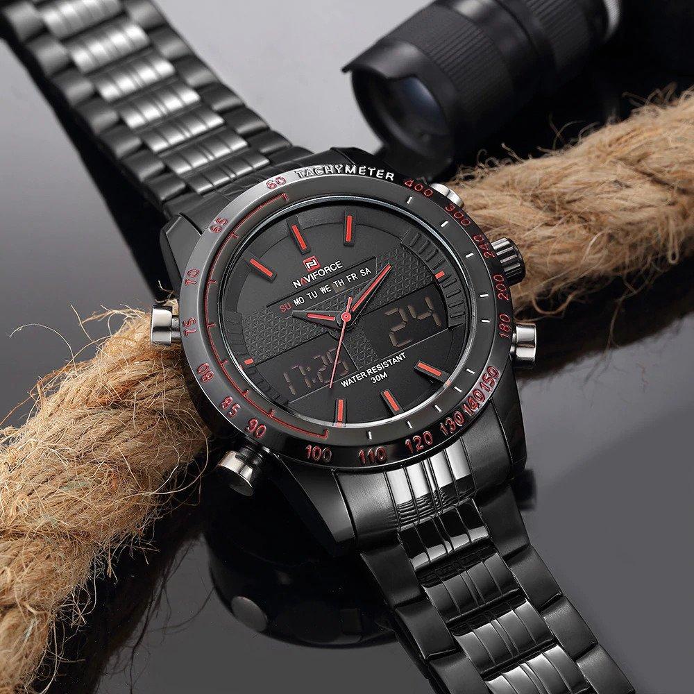 Zegarek Naviforce Power czarny czerwony 13