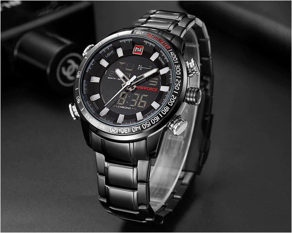 Zegarek Naviforce Rigor czarny biały 6