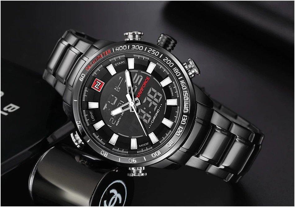 Zegarek Naviforce Rigor czarny biały 7