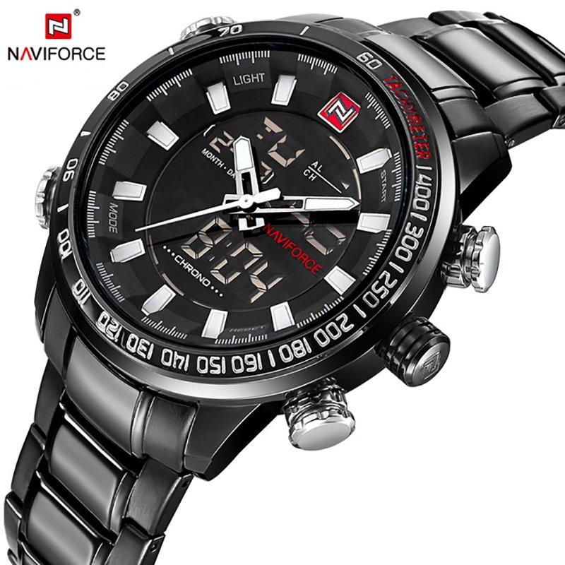Zegarek Naviforce Rigor czarny biały 8