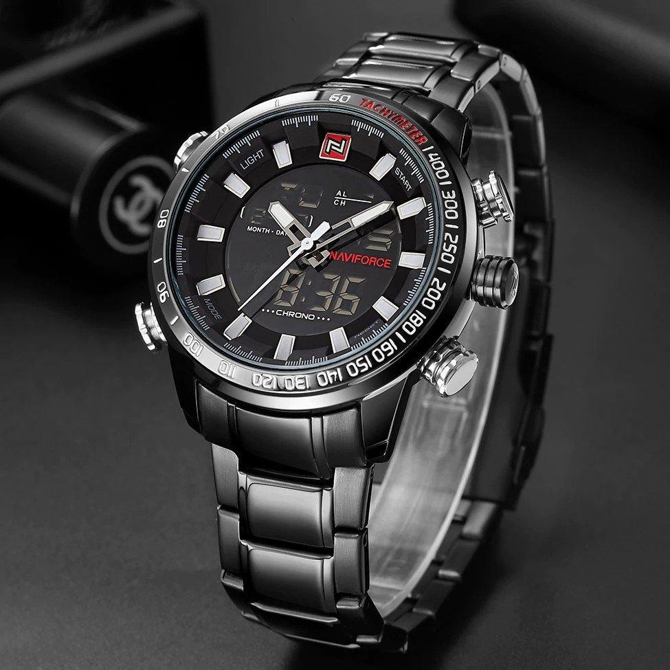 Zegarek Naviforce Rigor czarny biały 9