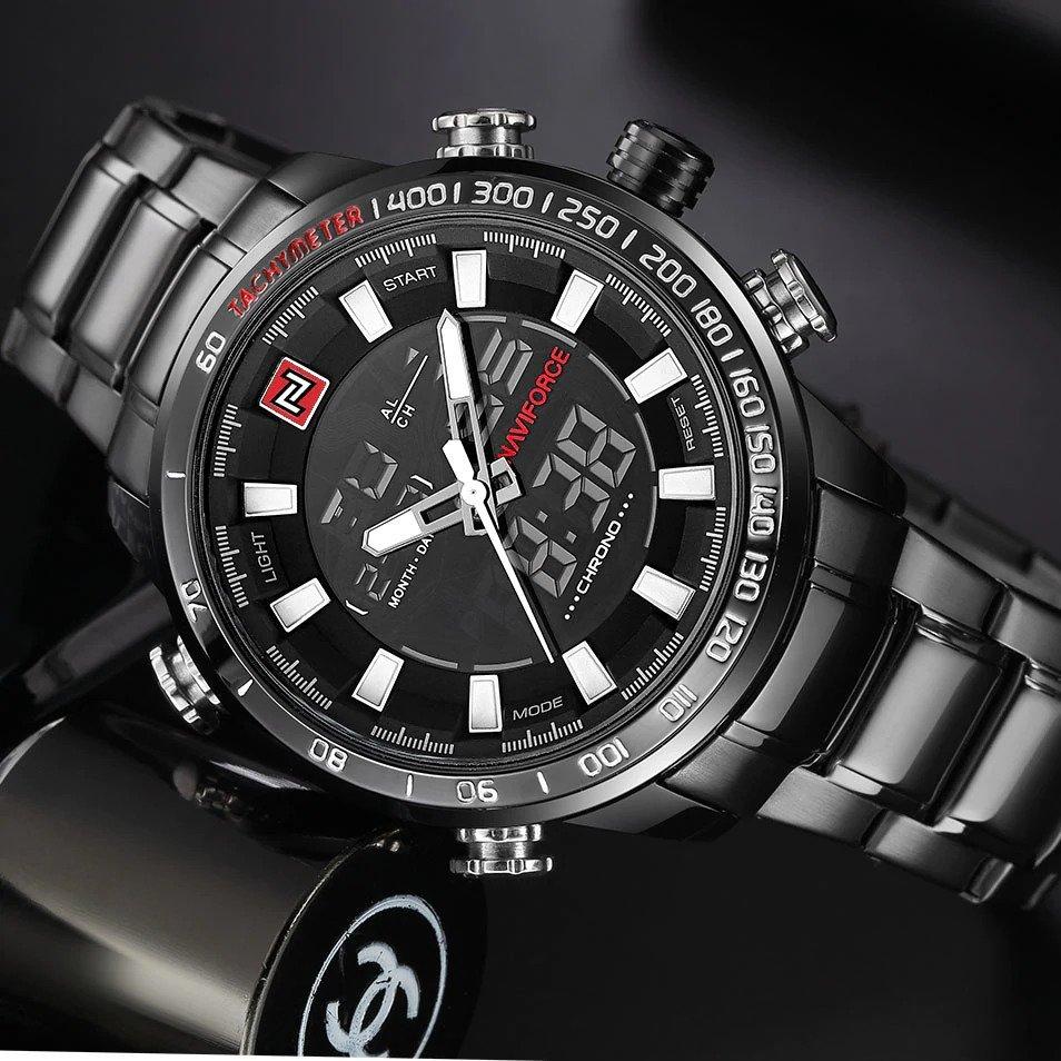 Zegarek Naviforce Rigor czarny biały 10