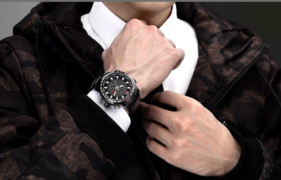 Zegarek Naviforce Rigor czarny biały 12