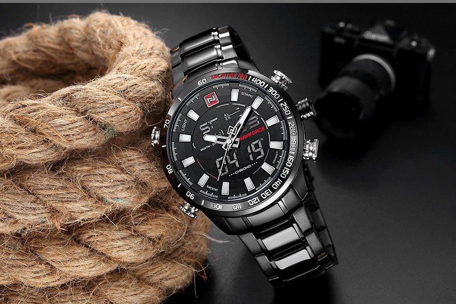 Zegarek Naviforce Rigor czarny biały 13