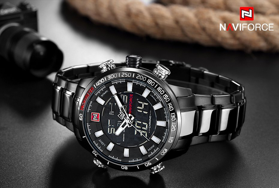 Zegarek Naviforce Rigor czarny biały 14