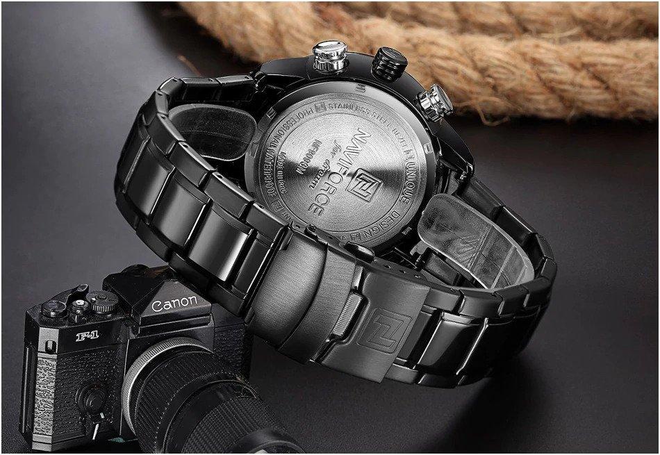 Zegarek Naviforce Rigor czarny biały 15
