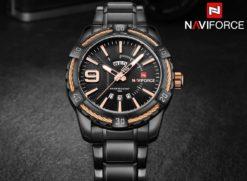 Zegarek Naviforce Rope czarny złoty 2
