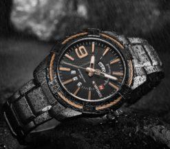 Zegarek Naviforce Rope czarny złoty 3