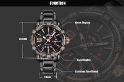 Zegarek Naviforce Rope czarny złoty 4