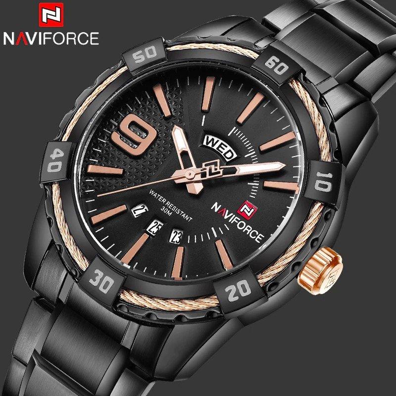 Zegarek Naviforce Rope czarny złoty 11