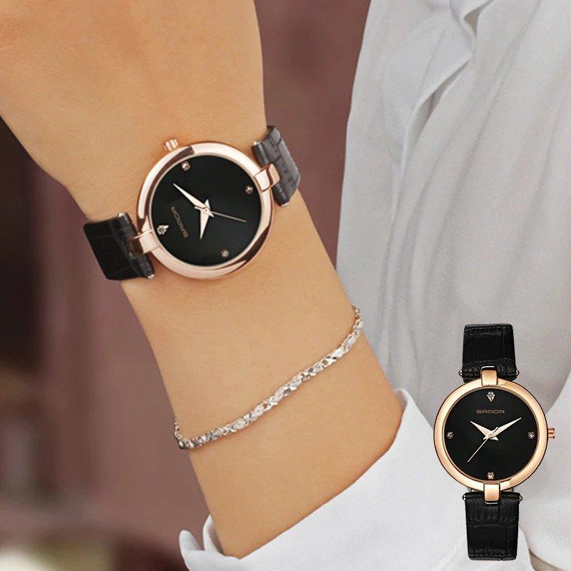Zegarek Sanda Diamond czarny 9