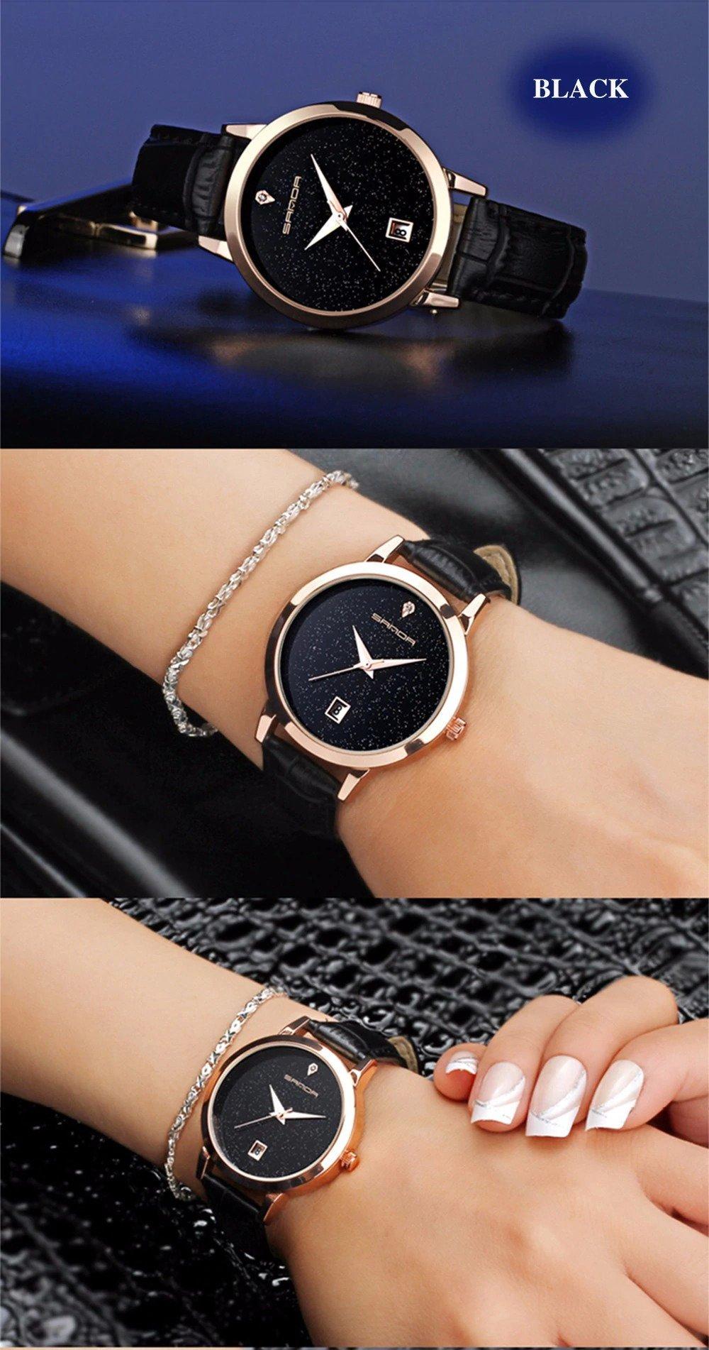 Zegarek Sanda Jane czarny 9