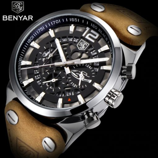Zegarek Benyar Blackbird srebrny-srebrny 4