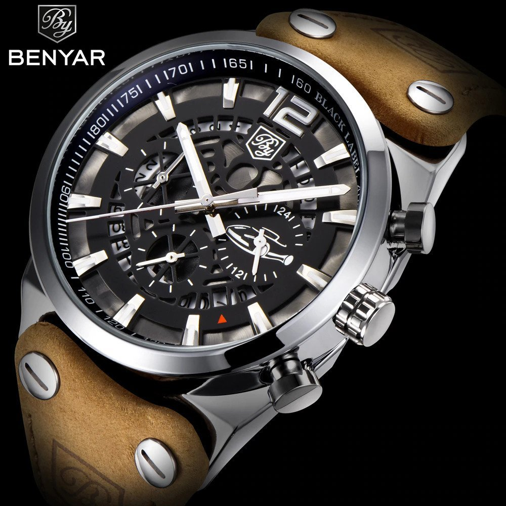 Zegarek Benyar Blackbird srebrny-srebrny 12