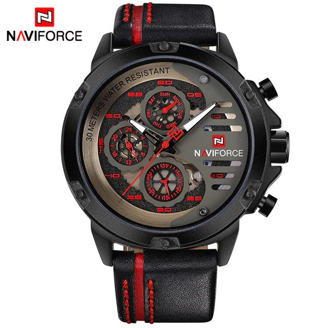 Zegarek Naviforce Maverick czerwony 5