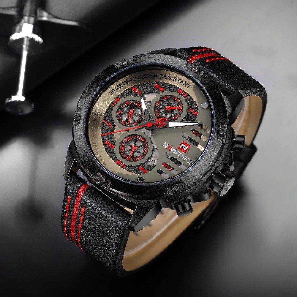 Zegarek Naviforce Maverick czerwony 6