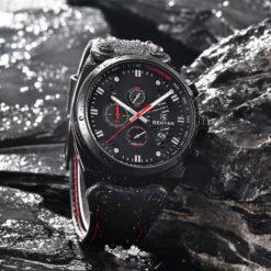 Zegarek Benyar Blackshadow czarny-czerwony