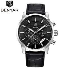 Zegarek Benyar Royal srebrny czarny