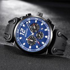 Zegarek Benyar Canaveral czarny-niebieski 3