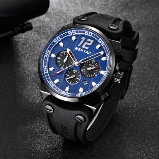 Zegarek Benyar Canaveral czarny-niebieski