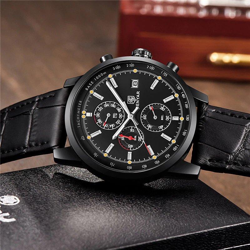 Zegarek Benyar cały czarny BY5102 2