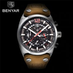Zegarek Benyar Blackbird srebrny-czerwony