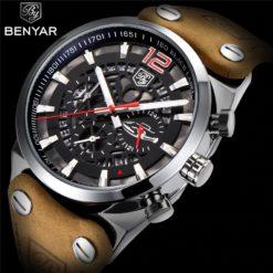 Zegarek Benyar Blackbird srebrny-czerwony 1