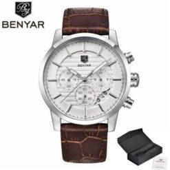 Zegarek Benyar Royal srebrny biały 2
