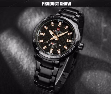 Zegarek Naviforce Patriot czarny-złoty 7