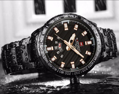 Zegarek Naviforce Patriot czarny-złoty 6