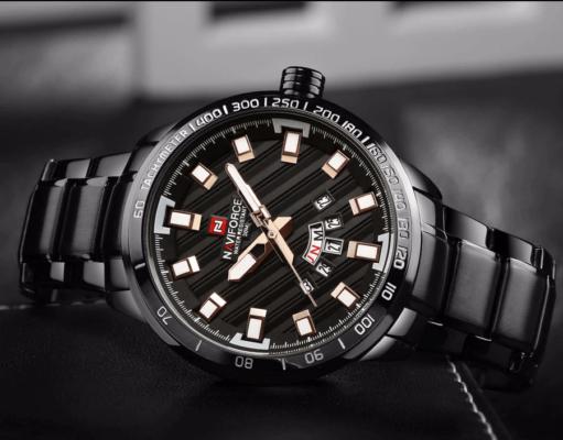 Zegarek Naviforce Patriot czarny-złoty 8