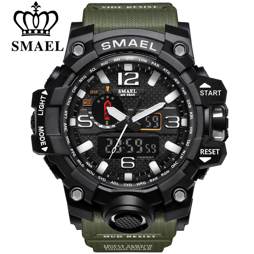 Zegarek Smael Camouflage zielony 8