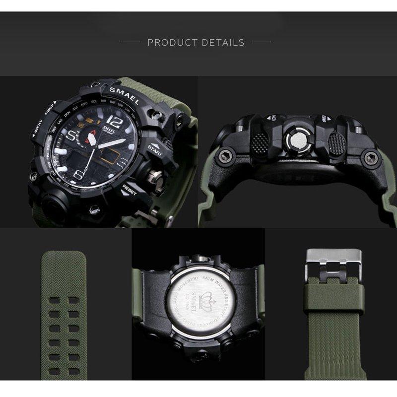 Zegarek Smael Camouflage zielony 10