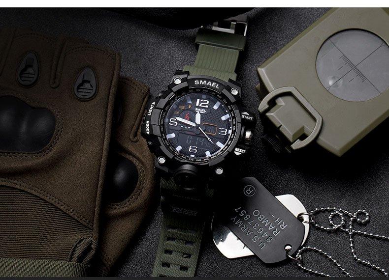 Zegarek Smael Camouflage zielony 12
