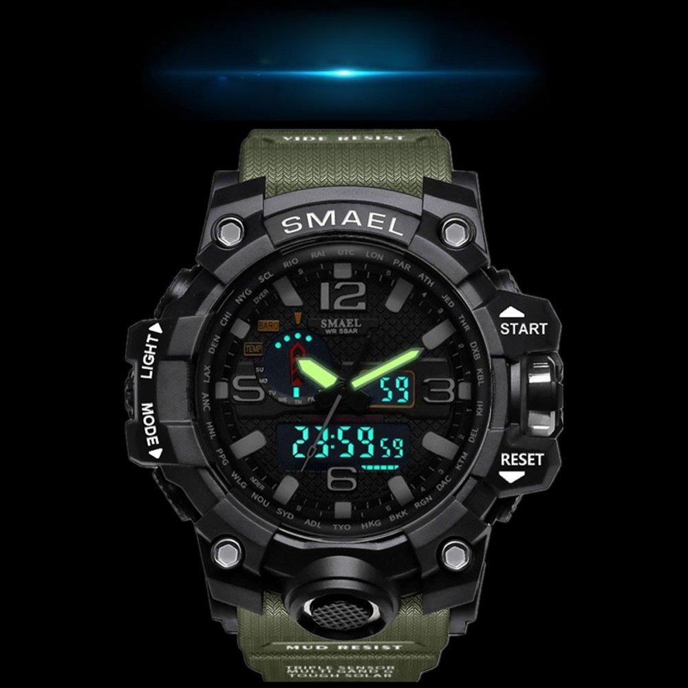 Zegarek Smael Camouflage zielony 14