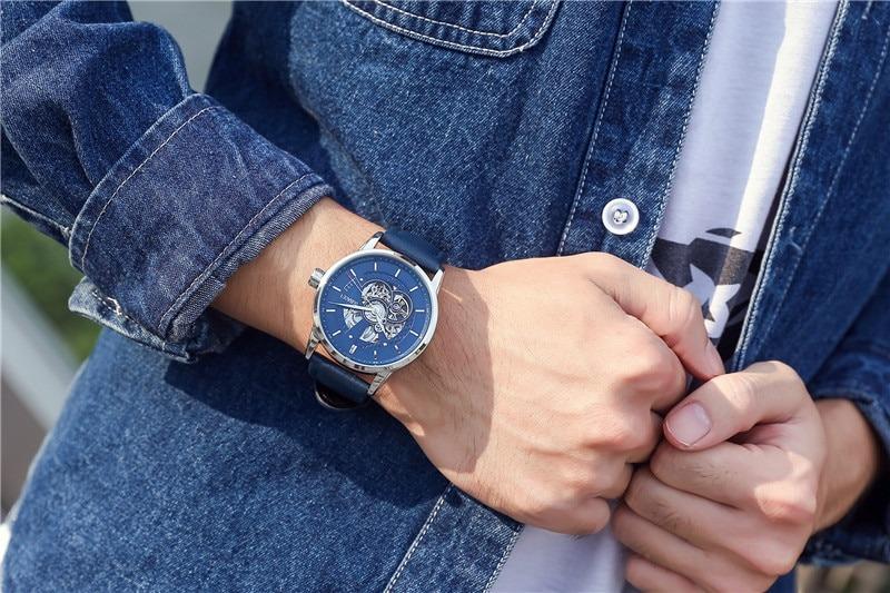 Zegarek Oubaoer Primera niebieski 11