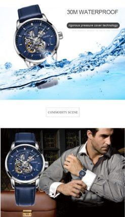 Zegarek Oubaoer Primera niebieski 4