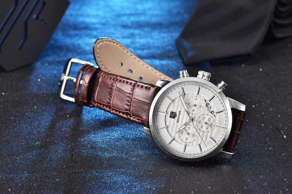 Zegarek Benyar Royal srebrny biały 6