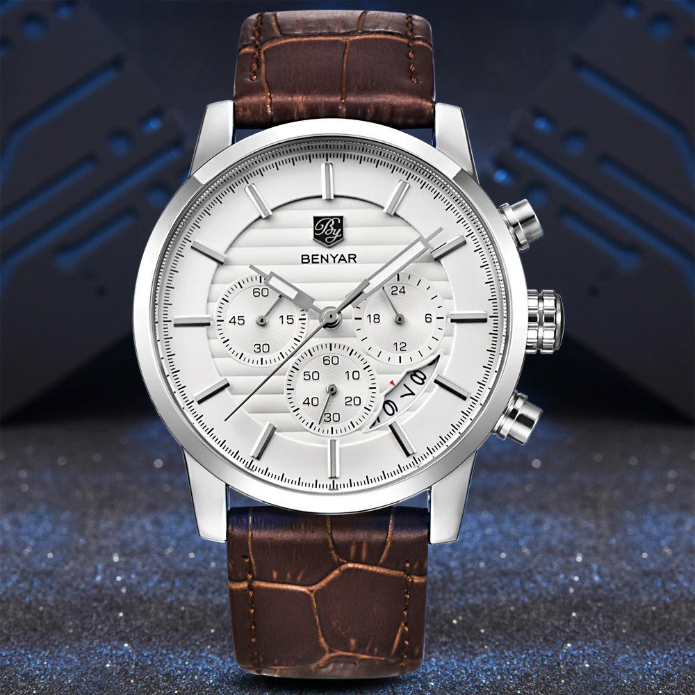 Zegarek Benyar Royal srebrny biały 7