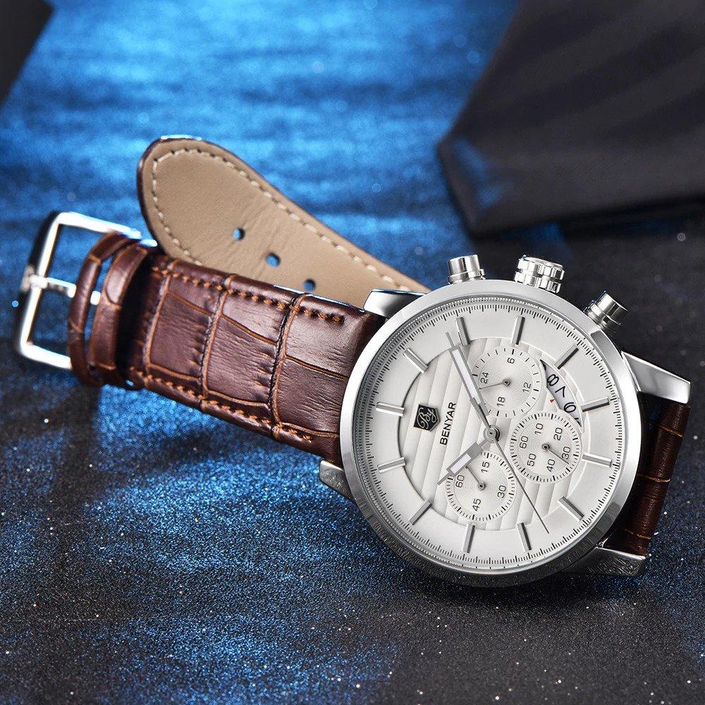 Zegarek Benyar Royal srebrny biały 9