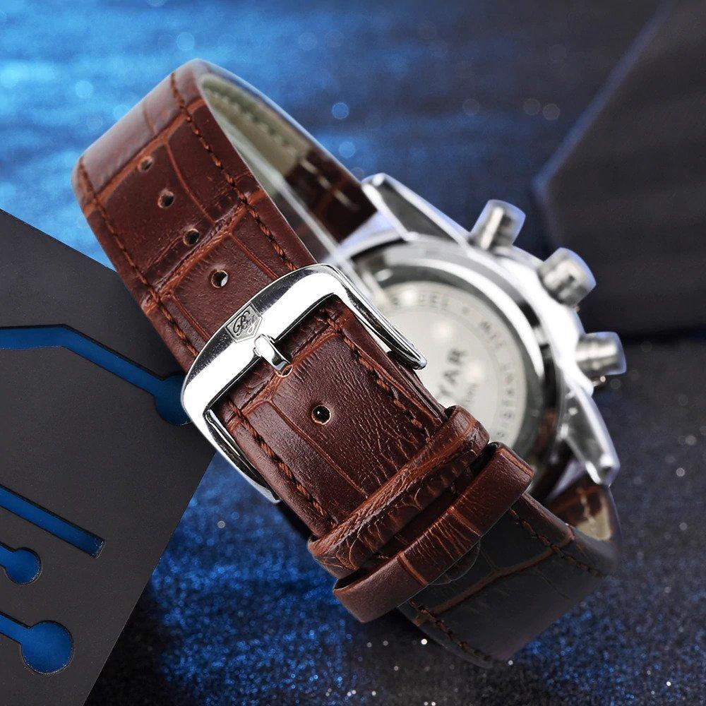 Zegarek Benyar Royal srebrny biały 10