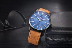 Zegarek Benyar Style czarny-niebieski BY5101